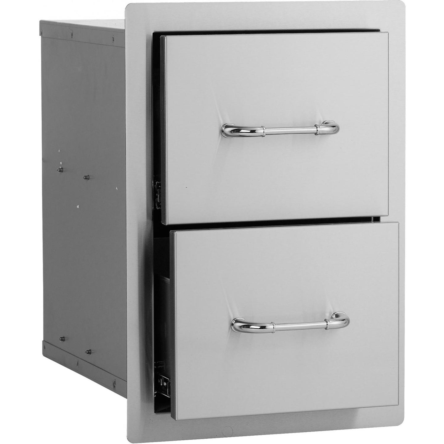 Bull 15-Inch Stainless Steel Double Access Drawer - 56985