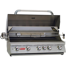 Bull Brahma 38-Inch 5-Burner Built-In Grill With Rotisserie - 57568/9