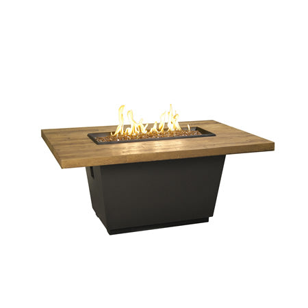 American Fyre Designs French Barrel Oak Cosmo Rectangle Firetable - 635-BA-FO-V4xC