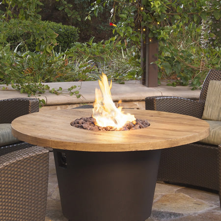 American Fyre Designs French Barrel Oak Cosmo Round Firetable - 645-BA-FO-V2xC