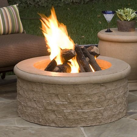 American Fyre Designs Chiseled Fire Pit - 680-xx-11-V6xC