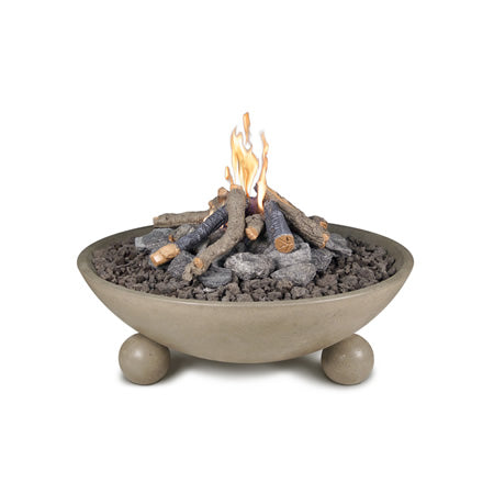American Fyre Designs 40 Inch Versailles Fire Bowl with Ball Feet and AWEIS Ignition System - 742-xx-11-F6xC