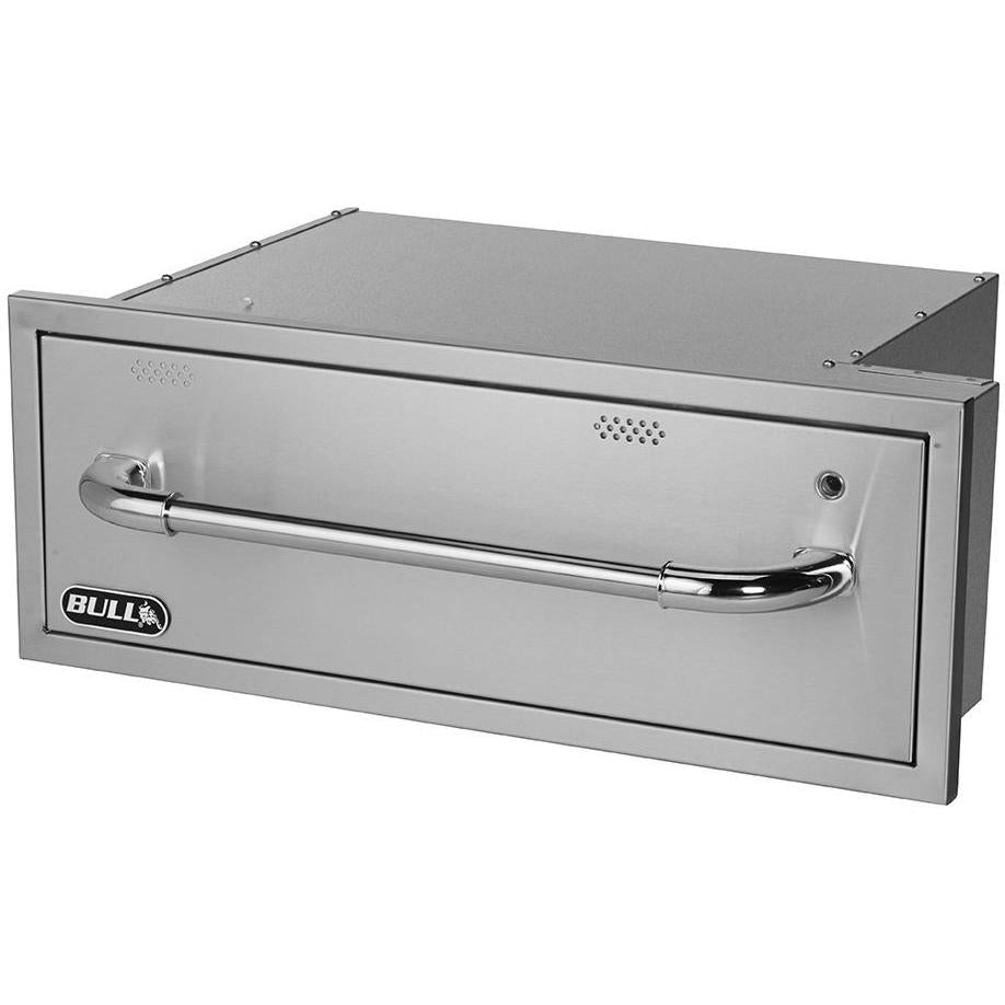 Bull 30-Inch Built-In 110V Electric Stainless Steel Warming Drawer - 85747