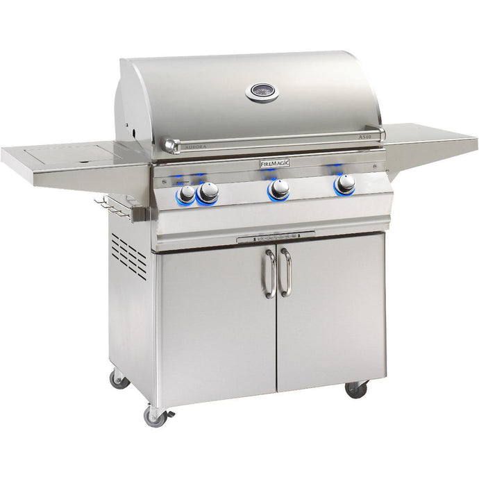 Fire Magic Aurora A540s 30-Inch Freestanding Grill With Analog Thermometer And Single Side Burner - A540s-5EAP-62