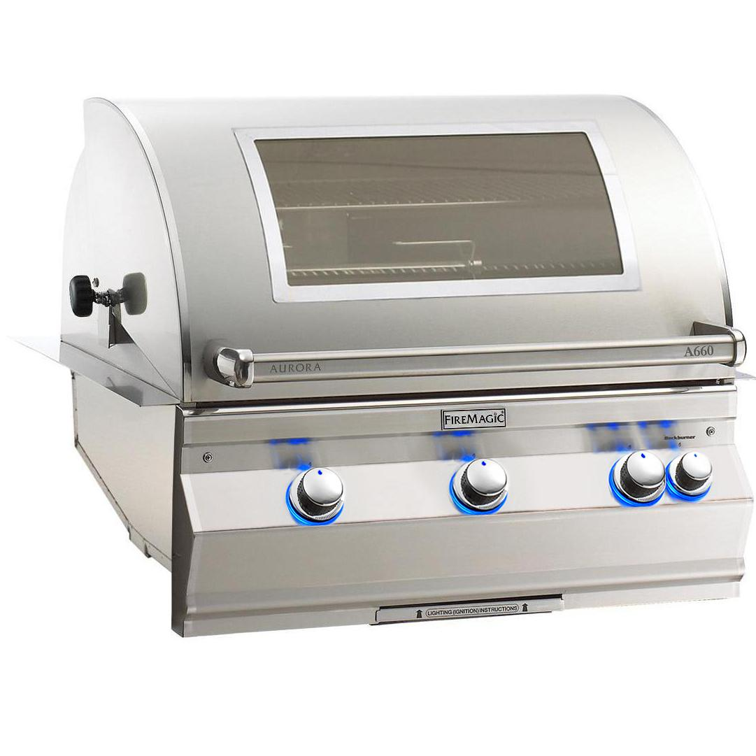 Fire Magic Aurora A660i 30-Inch Built-In, Propane, Rotisserie And Analog Thermometer