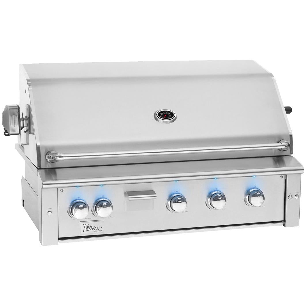 Summerset Alturi 42-Inch 3-Burner Built-In Propane Gas Grill With Red Brass Burners & Rotisserie - ALT42-RB-LP