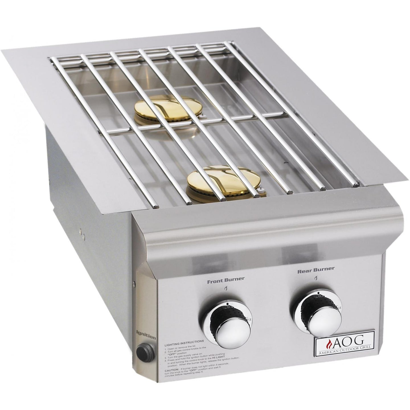 American Outdoor Grill L-Series Drop-In Gas Double Side Burner - 3282PL/NL - Garden District Miami