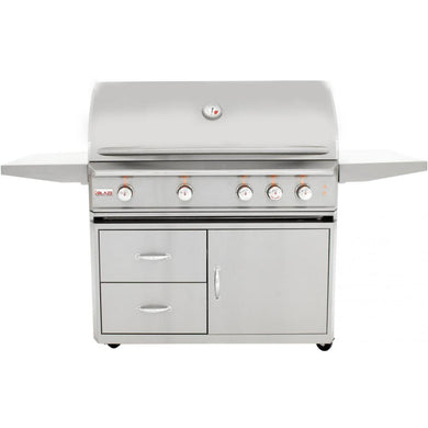 Blaze Professional 44-Inch 4-Burner Freestanding Grill With Rear Infrared Burner