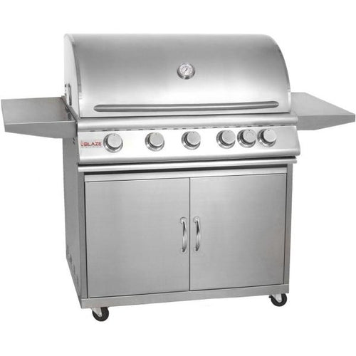 Blaze 40-Inch 5-Burner Freestanding Grill With Rear Infrared Burner - BLZ-5-CART
