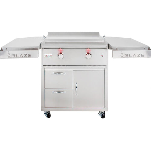 Blaze LTE 30-Inch Freestanding Griddle On Deluxe Cart With Lights - BLZ-GRIDDLE-LTE-SHK