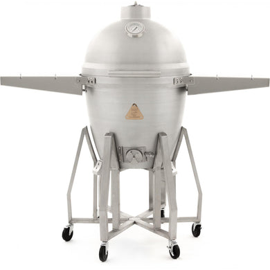 Blaze 20-Inch Freestanding Cast Aluminum Kamado Grill With Tool Hook Shelves