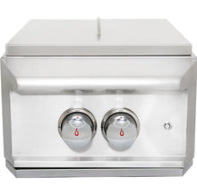 Blaze Professional Built-In Propane Gas High Performance Power Burner W/ Wok Ring & Stainless Steel Lid - BLZ-PROPB-LP/NG