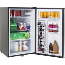 Blaze 20-Inch 4.5 Cu. Ft. Left Hinge Compact Refrigerator With Stainless Steel Door & Towel Bar Handle - BLZ-SSRF130 + BLZ-SSFP-4.5LH