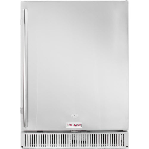 Blaze 24-Inch 5.2 Cu. Ft. Outdoor Stainless Steel Compact Refrigerator - UL Approved - The Garden District