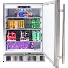Blaze 24-Inch Outdoor Compact Refrigerator - storing drinks