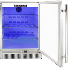 Blaze 24-Inch Outdoor Compact Refrigerator - Cool Blue LED Lighting