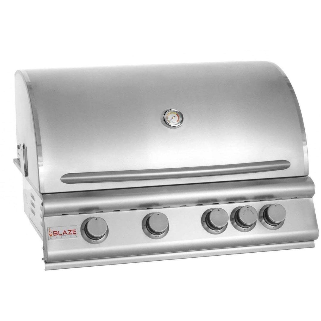 Blaze 32-Inch 4-Burner Built-In Grill With Rear Infrared Burner