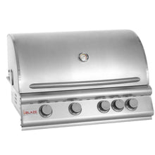 Blaze 32-Inch 4-Burner Built-In Grill With Rear Infrared Burner - The Garden District