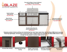 Blaze BBQ Island With 32-Inch 4-Burner Gas Grill, Power Burner, & Refrigerator - BLZ-PBLTE-NG/LP