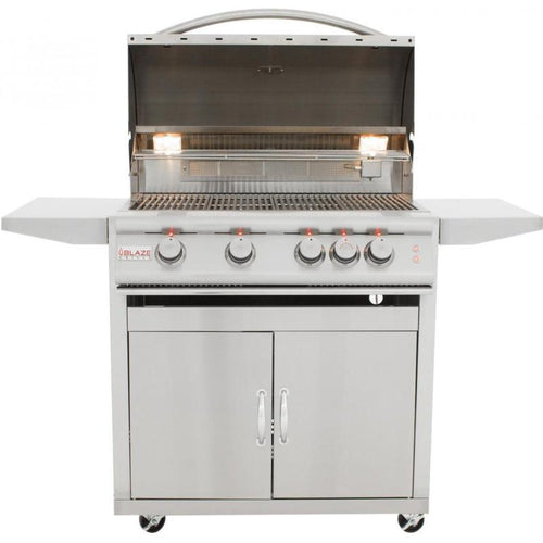 Blaze 32-Inch 4-Burner Freestanding Grill With Rear Infrared Burner - BLZ-4-CART