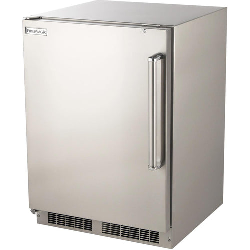 Fire Magic 24-Inch 6.5 Cu. Ft. Left Hinged Outdoor Built-In Refrigerator - Stainless Steel - 3589-DL
