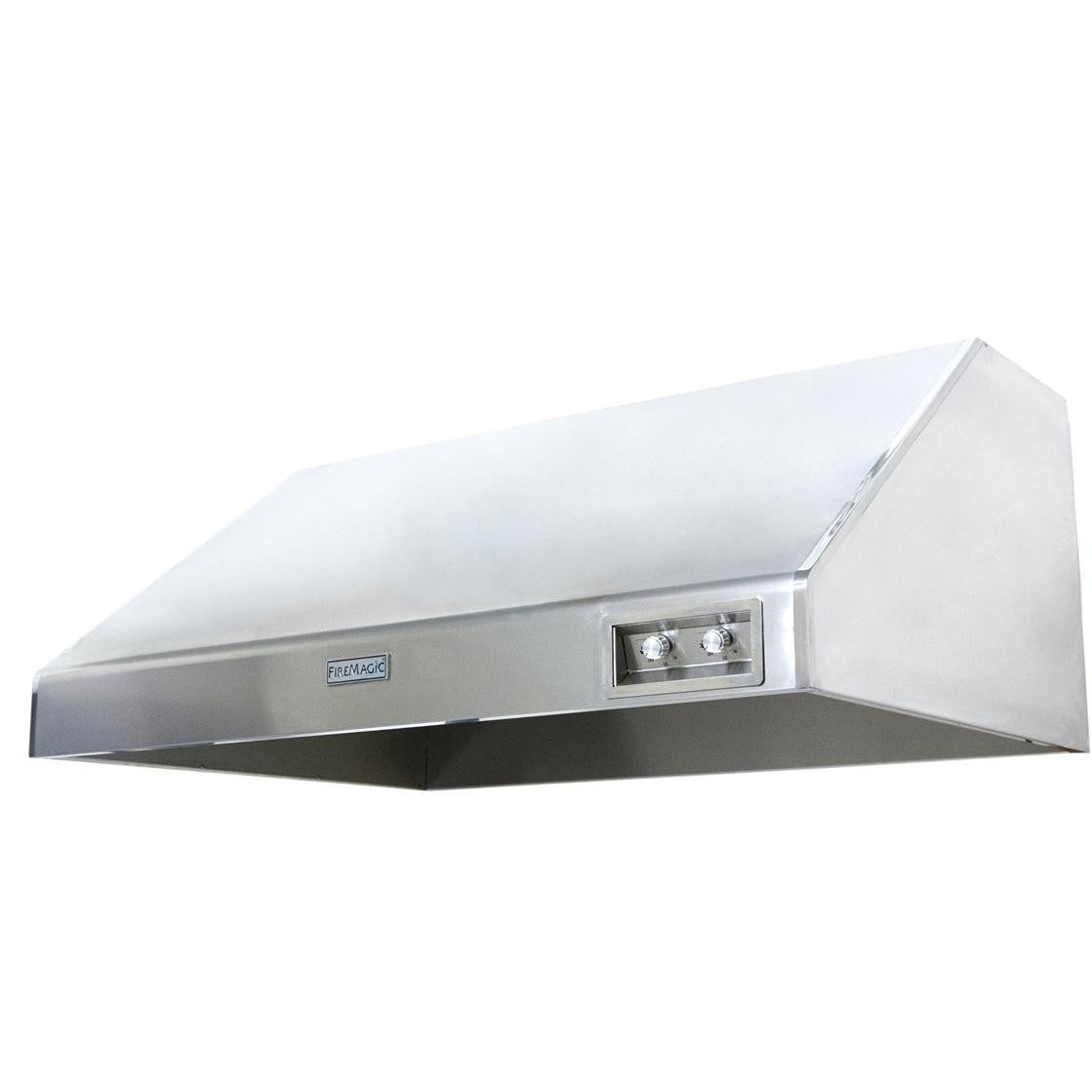 Fire Magic 48-Inch Stainless Steel Outdoor Vent Hood - 1200 CFM 48-VH-6 - The Garden District