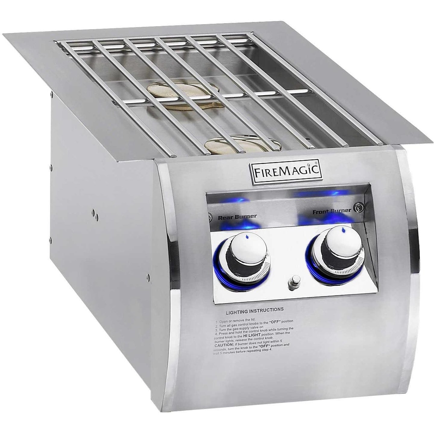 Fire Magic Echelon Diamond Propane Gas Built-In Double Side Burner 32814P - The Garden District
