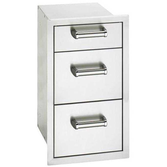 Fire Magic Premium Flush 14-Inch Triple Access Drawer - 53803SC - The Garden District
