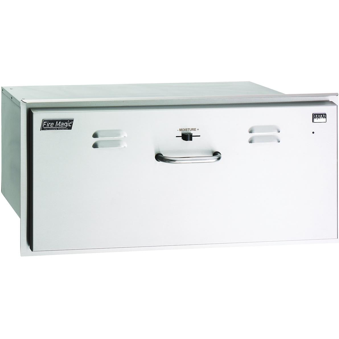 Fire Magic Select 30-Inch Built-In 110V Electric Stainless Steel Warming Drawer - 33830-SW - The Garden District
