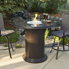 Outdoor Greatroom Colonial Pub Fire Pit Table with Grand Colonial Granite Top - 183-GC-48-PUB-K