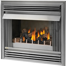 Napoleon Riverside 36-Inch Outdoor Built-In Propane Gas Fireplace W/ Millivolt Ignition And Brushed Stainless Steel Louvres - GSS36P