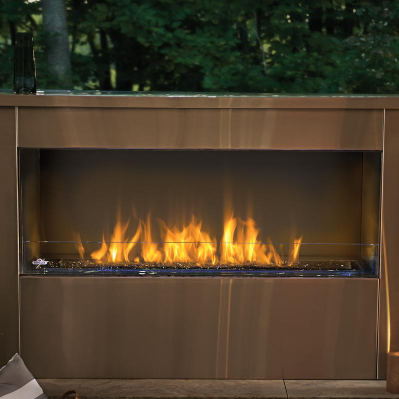 Napoleon Galaxy 51-Inch Outdoor Built-In Natural Gas Fireplace W/ Electronic Ignition - GSS48
