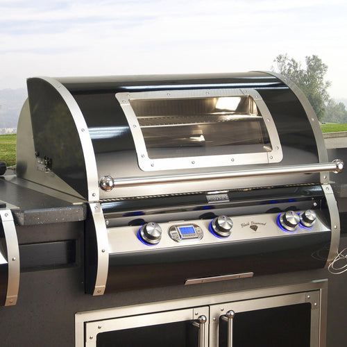 Fire Magic Echelon Black Diamond H790i 36-Inch Built-In Propane Grill With Magic View Window