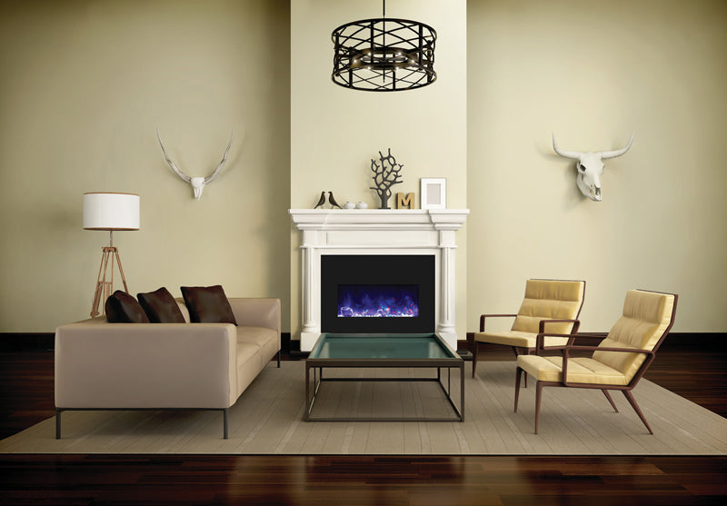 Amantii Large Insert 33 Inch Electric Fireplace - INSERT-33-4230-BG-EMBER/ ICE