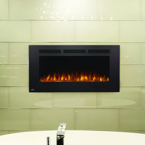 Napoleon Allure Phantom 42-Inch Linear Wall Mount Electric Fireplace With Mesh Front - NEFL42FH-MT