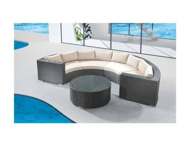 Round Full Sectional with Coffee Table