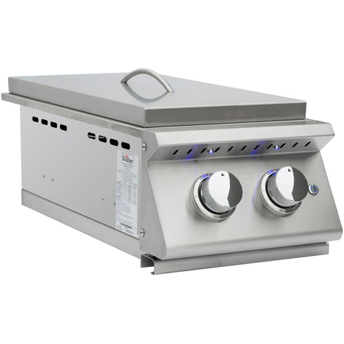 Summerset Sizzler Pro Built-In Propane Gas Double Side Burner - SIZPRO-SB2-LP