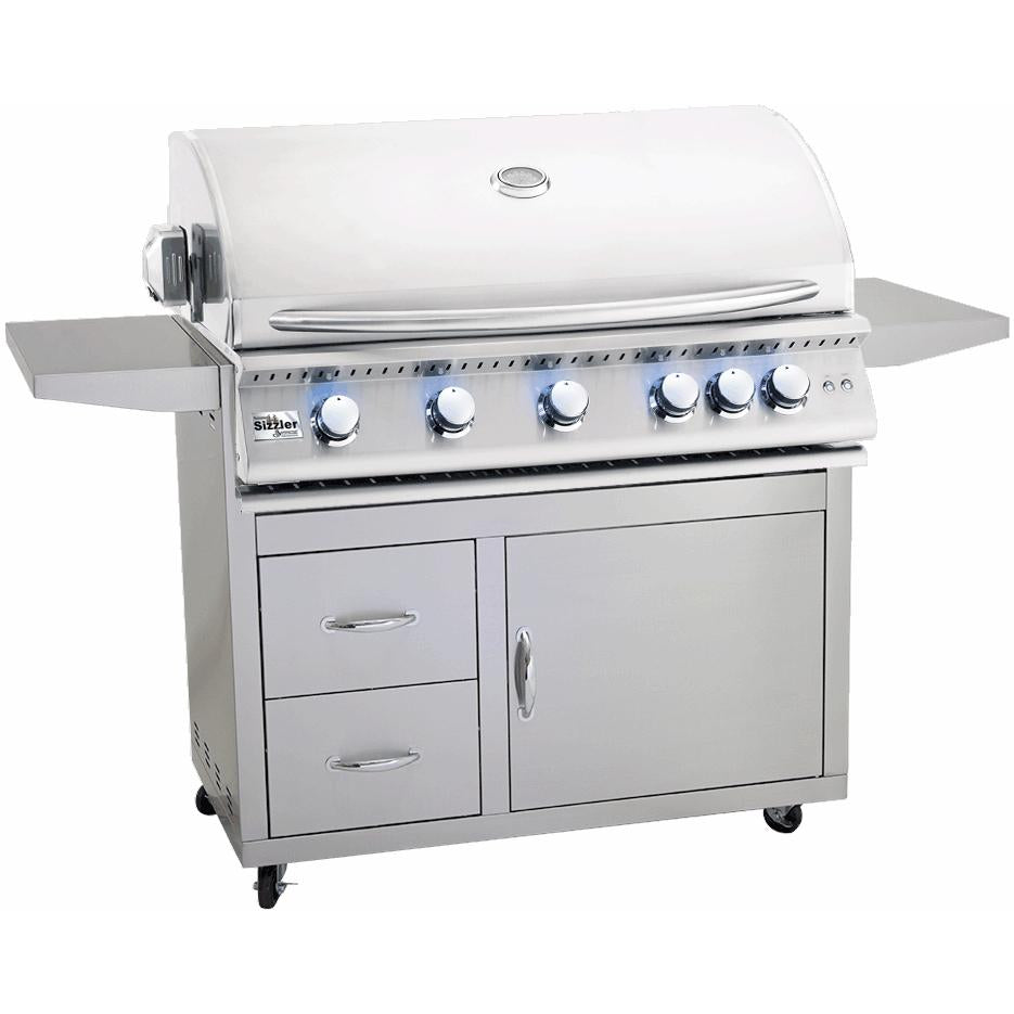 Summerset Sizzler Pro 40-Inch 5-Burner Freestanding Grill With Rear Infrared Burner - SIZPRO40