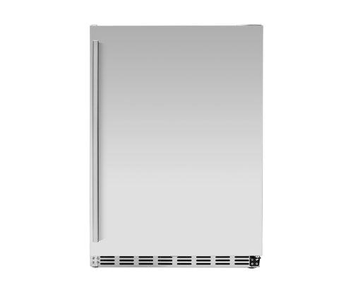 Summerset 24-Inch 5.3 Outdoor Rated Deluxe Stainless Steel Refrigerator - SSRFR-D1