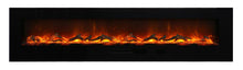 Amantii 88 Inch Electric Fireplace - WM-FM-88-10023-BG-EMBER/ ICE