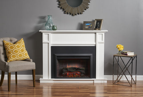 Outdoor Greatroom White Heritage Fireplace Cabinet - HTG-W