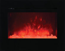 Amantii Zero Clearance 30 Inch Flush Mount Electric Fireplace - ZECL-30-3226-FLUSHMT-BG-EMBER/ ICE