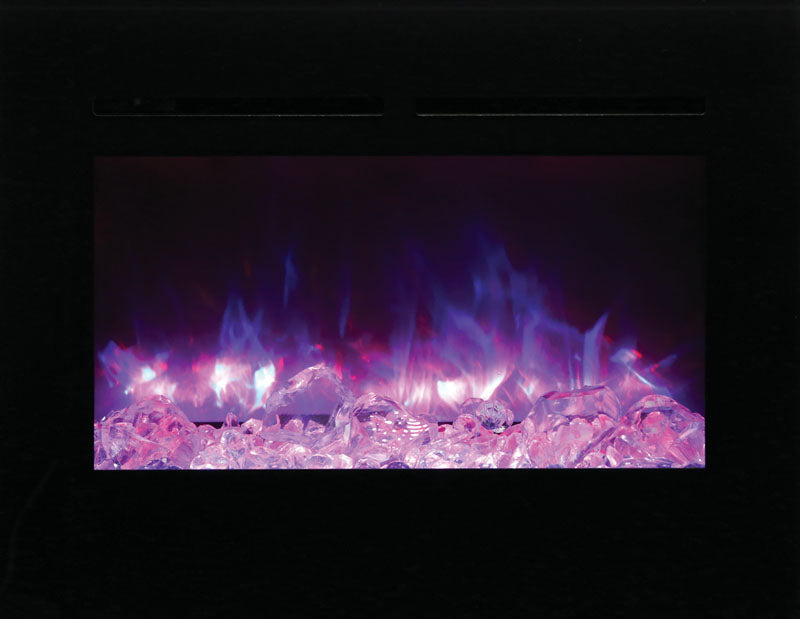 Astounding Amantii Zero Clearance 30 Inch Flush Mount Electric Fireplace Zecl 30 3226 Flushmt Bg Ember Ice Home Interior And Landscaping Ologienasavecom