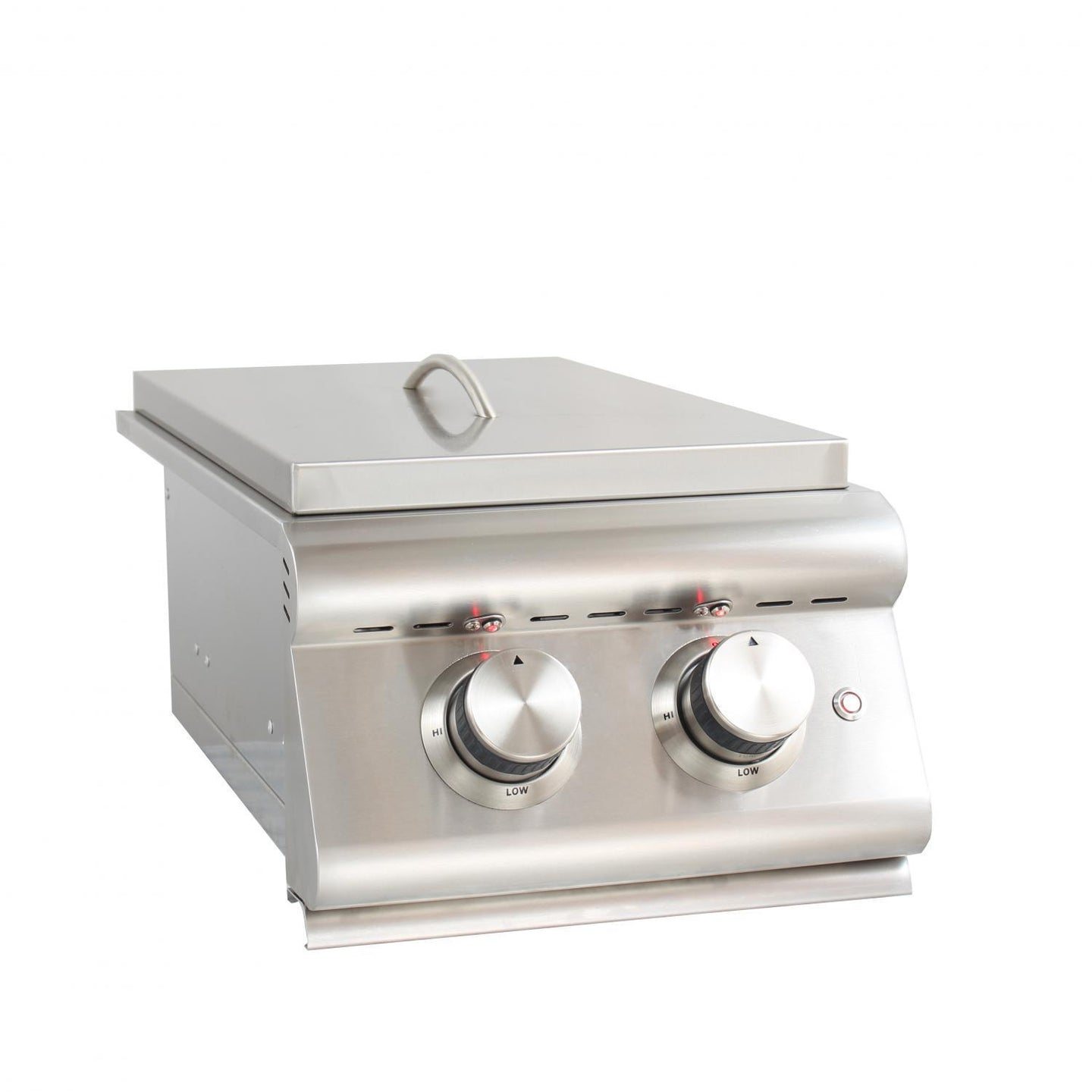 Blaze LTE Built-In Gas Stainless Steel Double Side Burner With Lid