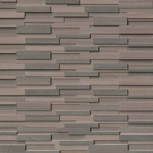Brown Wave 3D Honed Stacked Stone Panels
