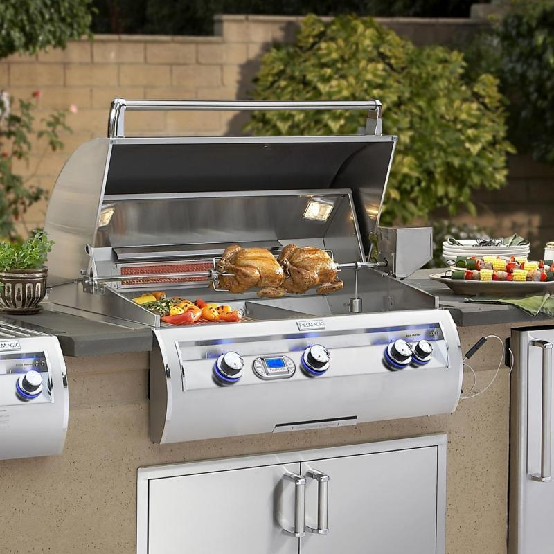 * WEEK SPECIAL, $500 INSTANT REBATE*    Fire Magic Echelon Diamond E790i 36-Inch Built-In Gas Grill with Digital Thermometer - E790i-4E1P/N / With Magic Viewing Window - E790i-4E1P/N-W
