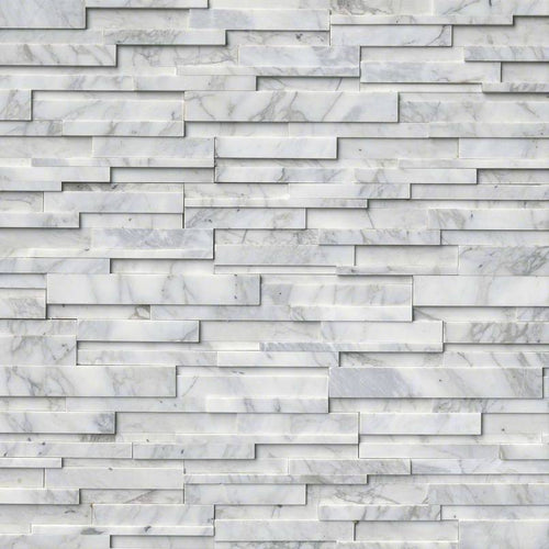 Calcatta Cressa 3D Honed Stacked Stone Panels