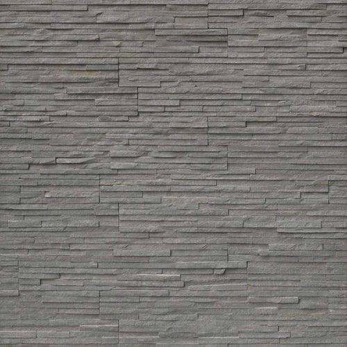Charcoal Pencil Stacked Stone Panels