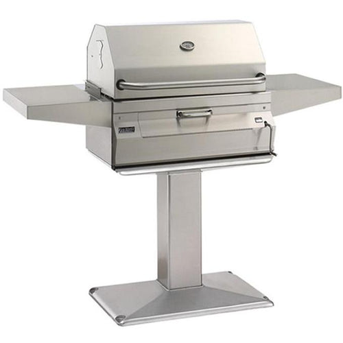 Fire Magic Legacy 24-Inch Smoker Charcoal Grill On In-Ground Post - 22-SC01C-G6