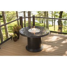 Outdoor Greatroom Colonial Dining Fire Pit Table with Granite Top - 183-GC-48-DIN-K
